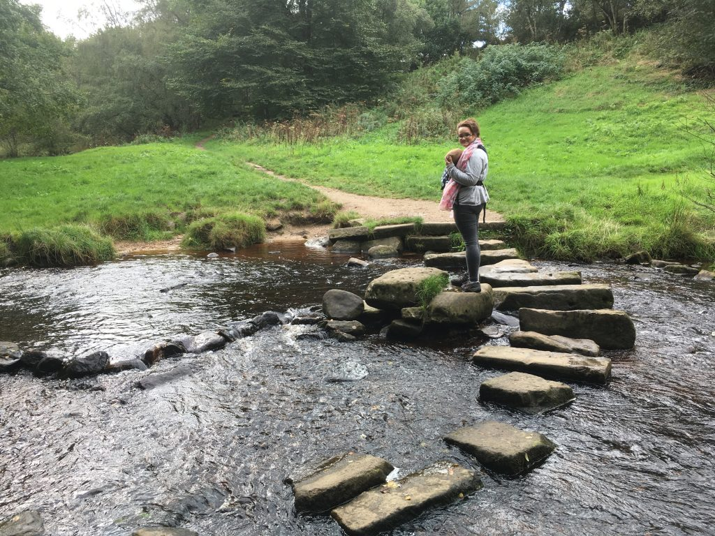 babywearing stepping stones lodge moor