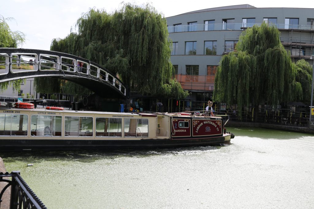 canal boat at Camden Lock, London