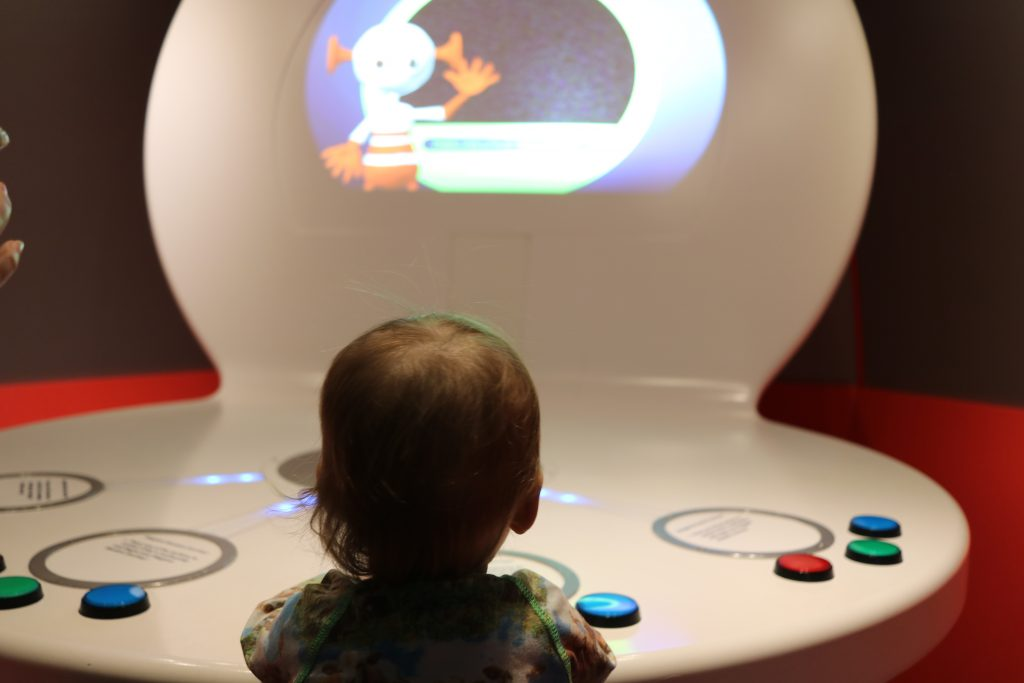 Eureka! the National children's museum with a toddler