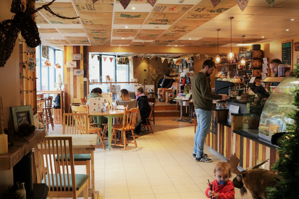inside the cabin coffee house in sheffield