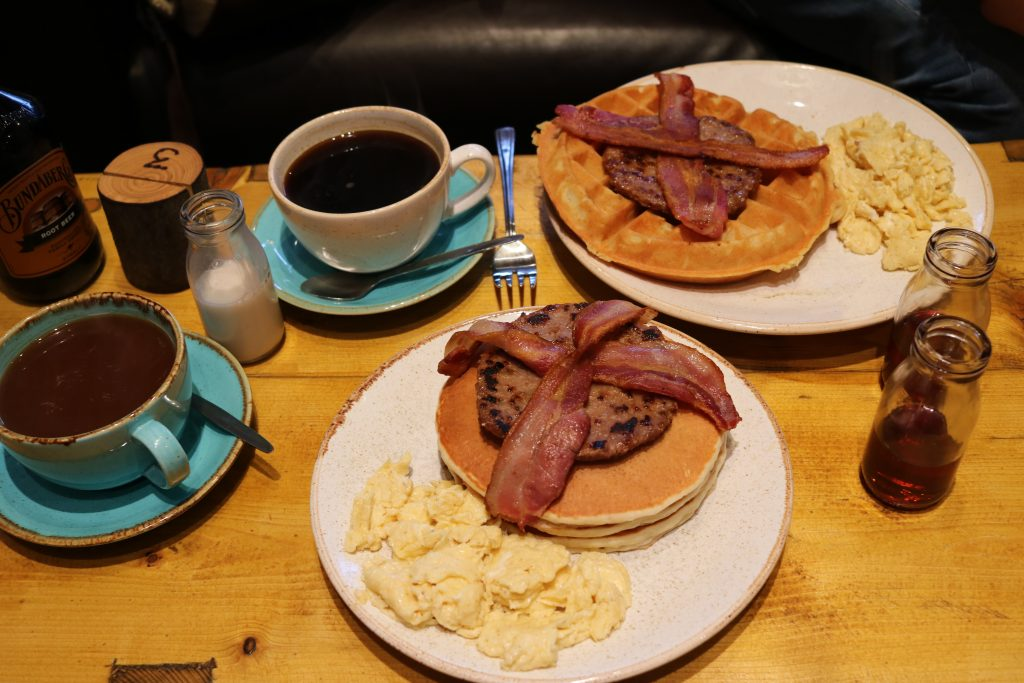 breakfast at the pancake and waffle coffeehouse in sheffield