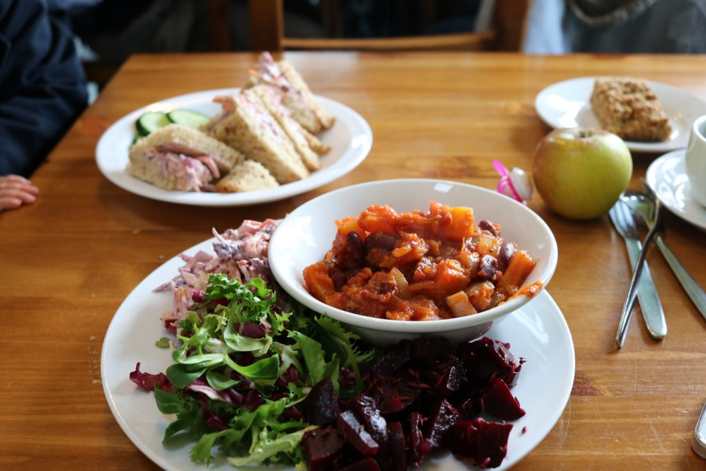 vegan food at heeley city farm heeley city farm, sheffield with a toddler family day out