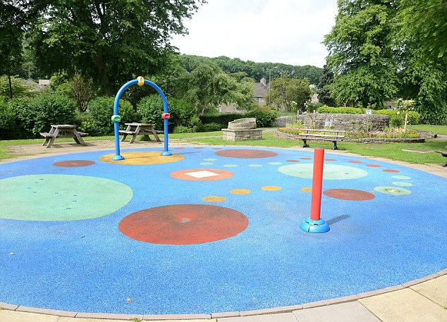 The splashplay area at Bakewell park Pictured - See Ross Parry copy RPYPLAY. Angry mums have spoken of their disbelief after a play area was shut because a resident complained - about the sound of children playing. Disappointed families have described the measure as 'unbelievable' after thelocal council received just one complaint about the outdoor area.The Bakewell Recreation Ground in Derbyshire is popular locally with parents coming as far as 20 miles away from Sheffield, South Yorks., to bring their children.