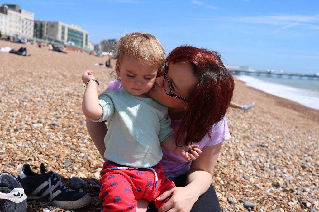 London with a Toddler - 5 top tips Brighton beach