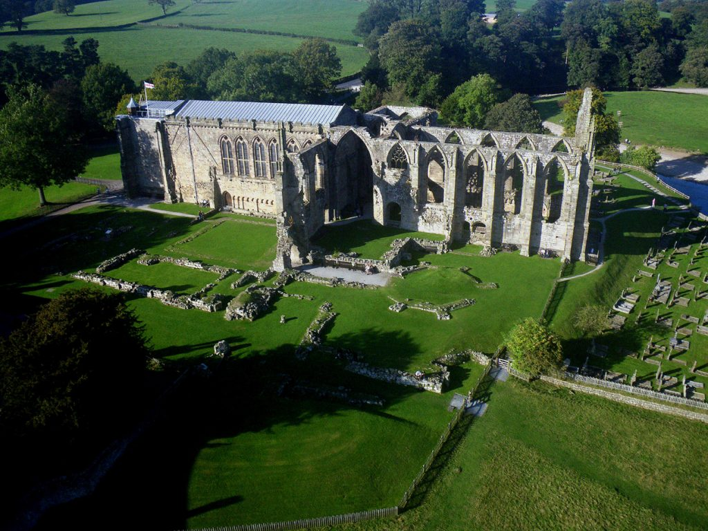 Bolton Abbey. Bolton Abbey in North Yorkshire is a great option for an outdoors day out with the family. The welly walk is a popular one for those with kids. There's so many more options for walks with over 30,000 acres of space including trails in the woods or a riverside stroll. Options for playgrounds in the area are aplenty, such as Hesketh farm park or Billy Bob's Parlour and play barn.