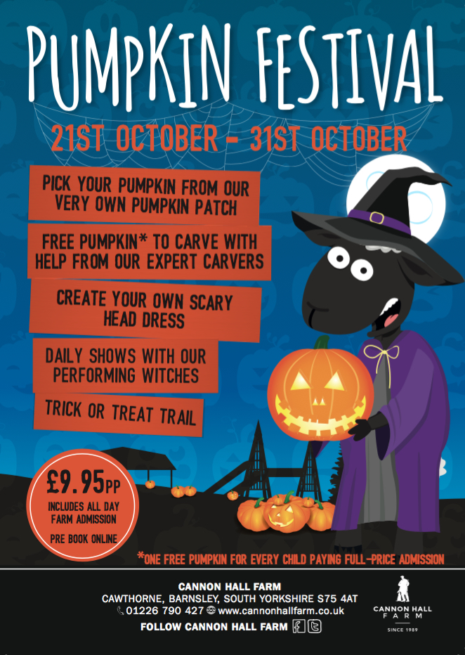 Want to find something to do for Halloween? Halloween is fast approaching, how will you be spending this creepy time of year? Here's a guide to the best family events for Halloween 2017 in and around South Yorkshire. Cannon Hall Farm
