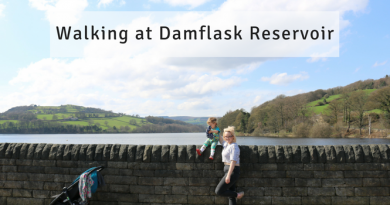 Walking at Damflask Reservoir, Sheffield