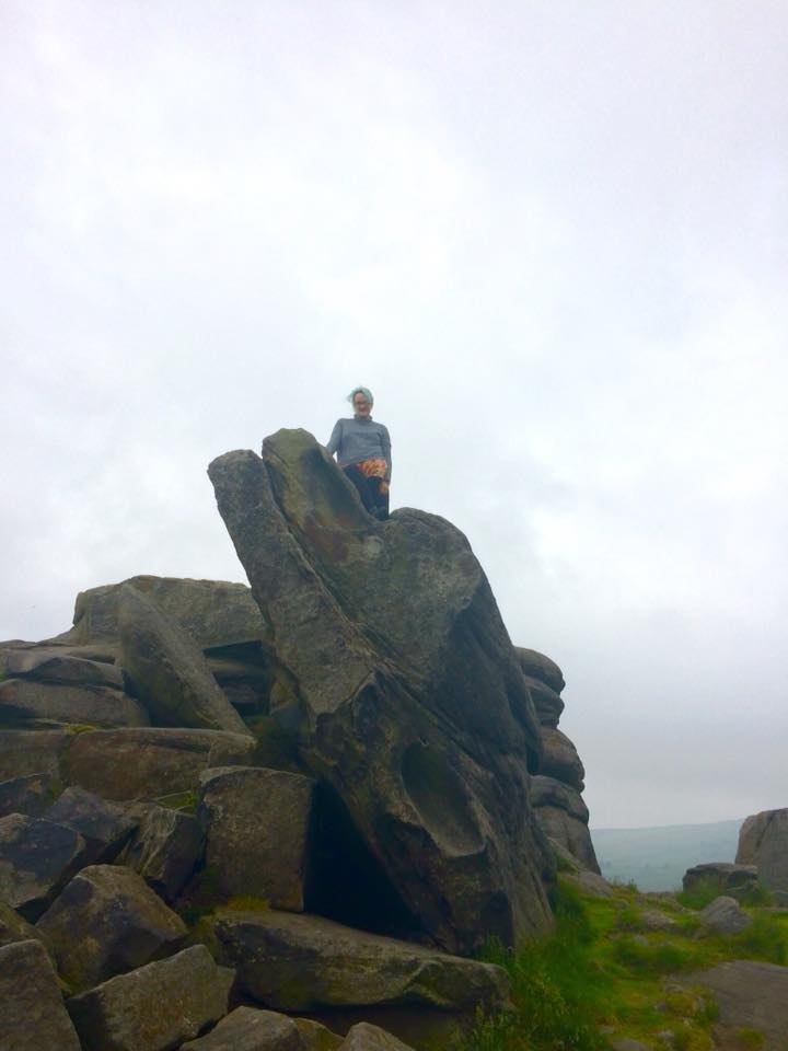 Climbing rocks at Mother Cap, Surprise View near Sheffield Top 10 outdoor days out for Sheffield families