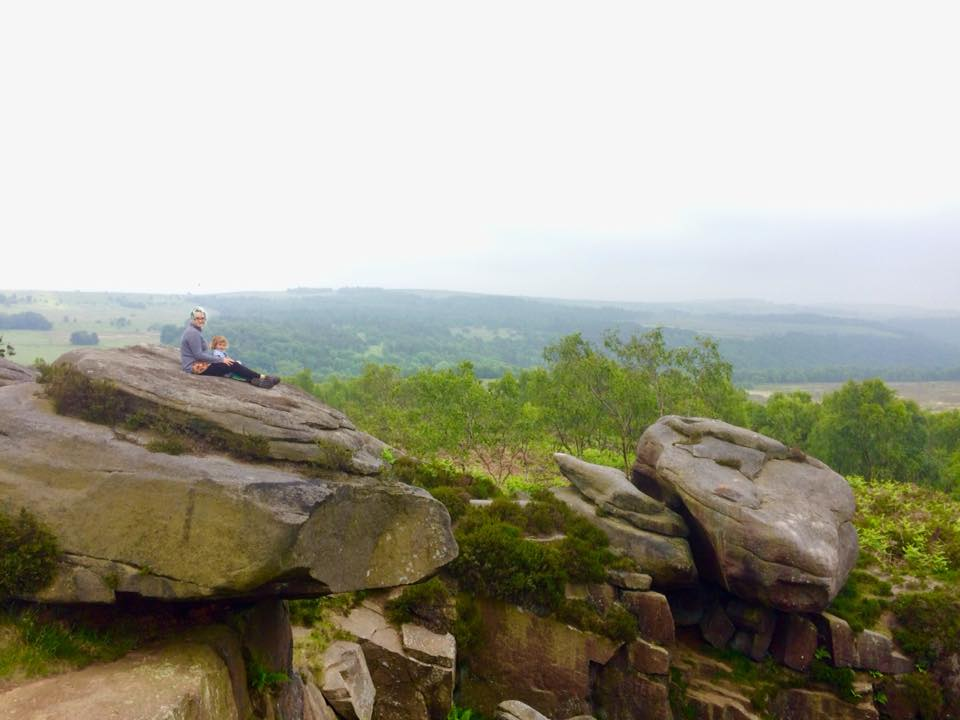 Climbing rocks at Mother Cap, Surprise View near Sheffield