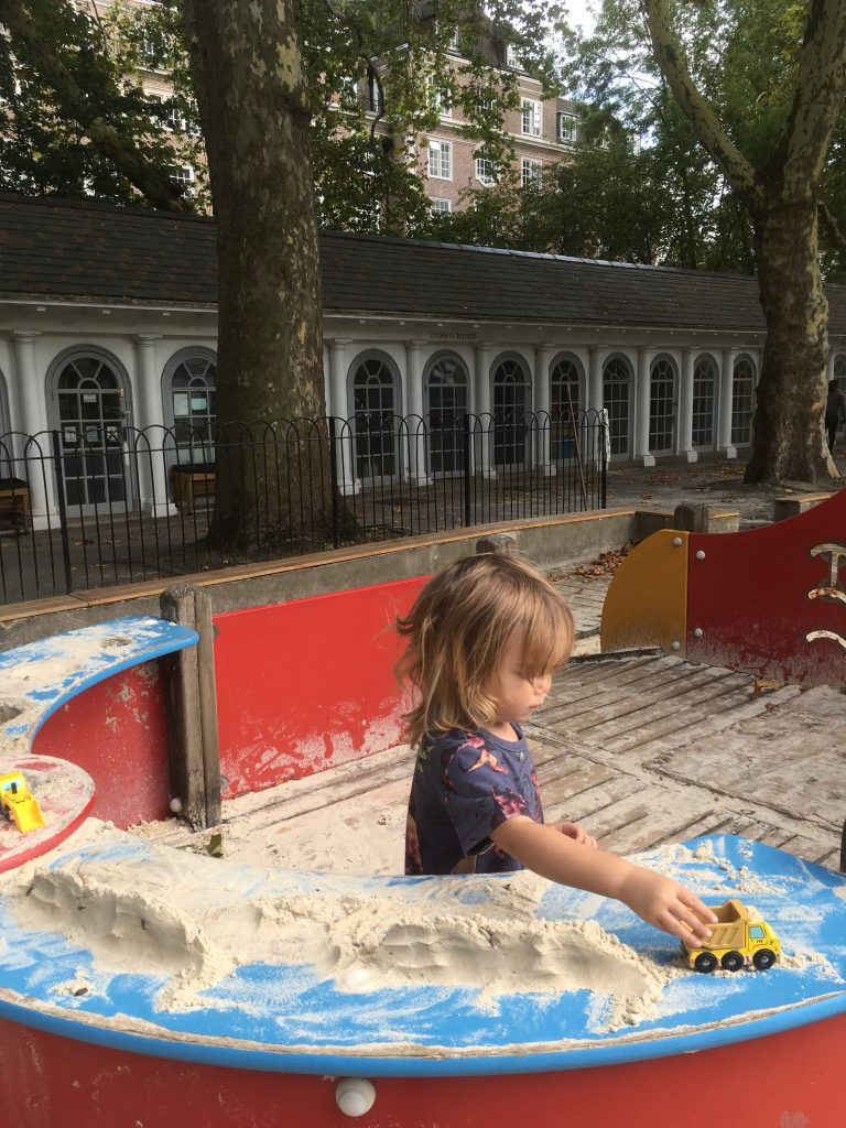 Things To Do In London with a toddler - Corams Fields Playground