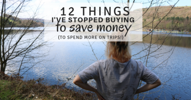 Things I've Stopped Buying To Save Money (to spend more on trips!)
