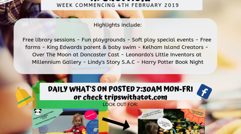What's on this week for babies & toddlers in Sheffield: February 4-8th 2019