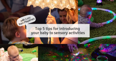 Top 5 tips for introducing your baby to sensory activities