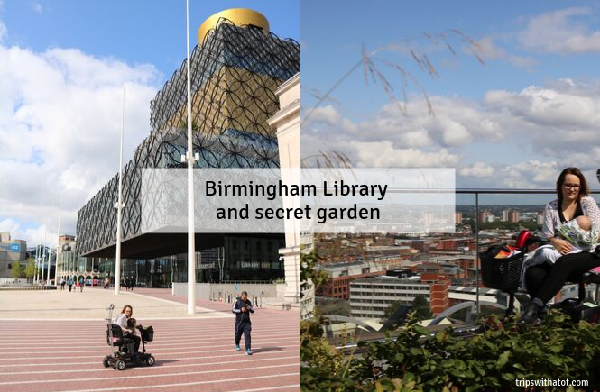 Birmingham Library and secret garden