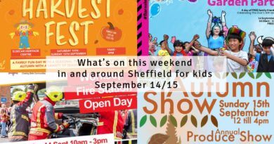 What's on this weekend in and around Sheffield for kids September 14/15